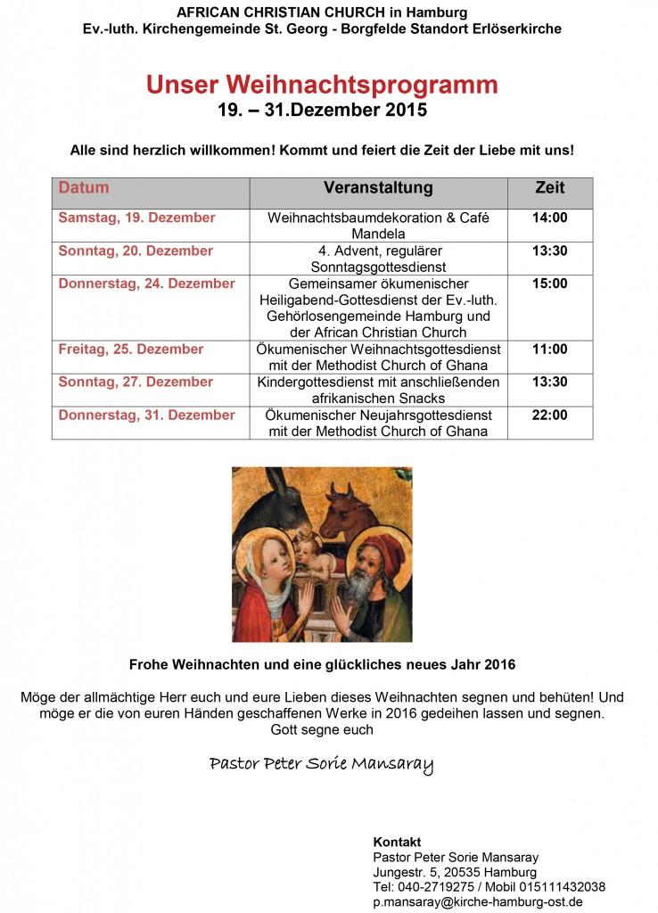 Gottesdienst Weihnachten Hamburg
