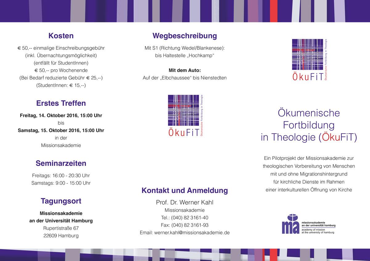Ökumenische Fortbildung in Theologie (ÖkuFiT) 2016/2017